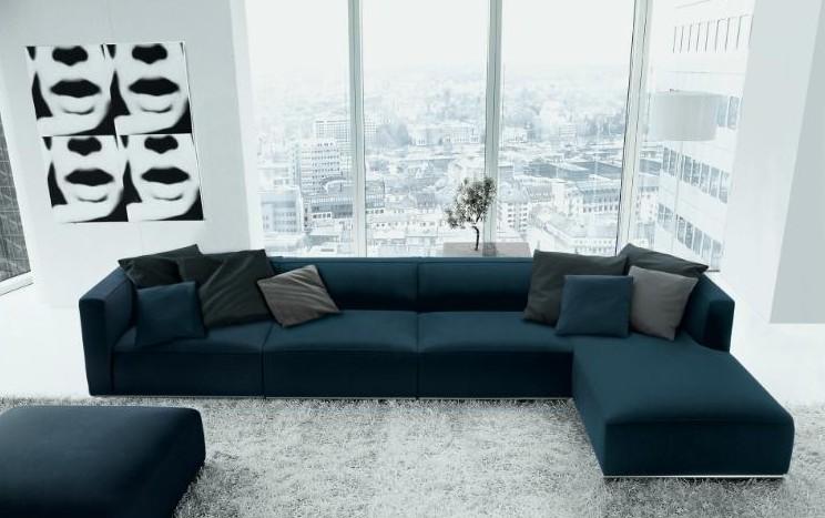 Casa decora o sof s com chaise - Modelos de sofas modernos ...